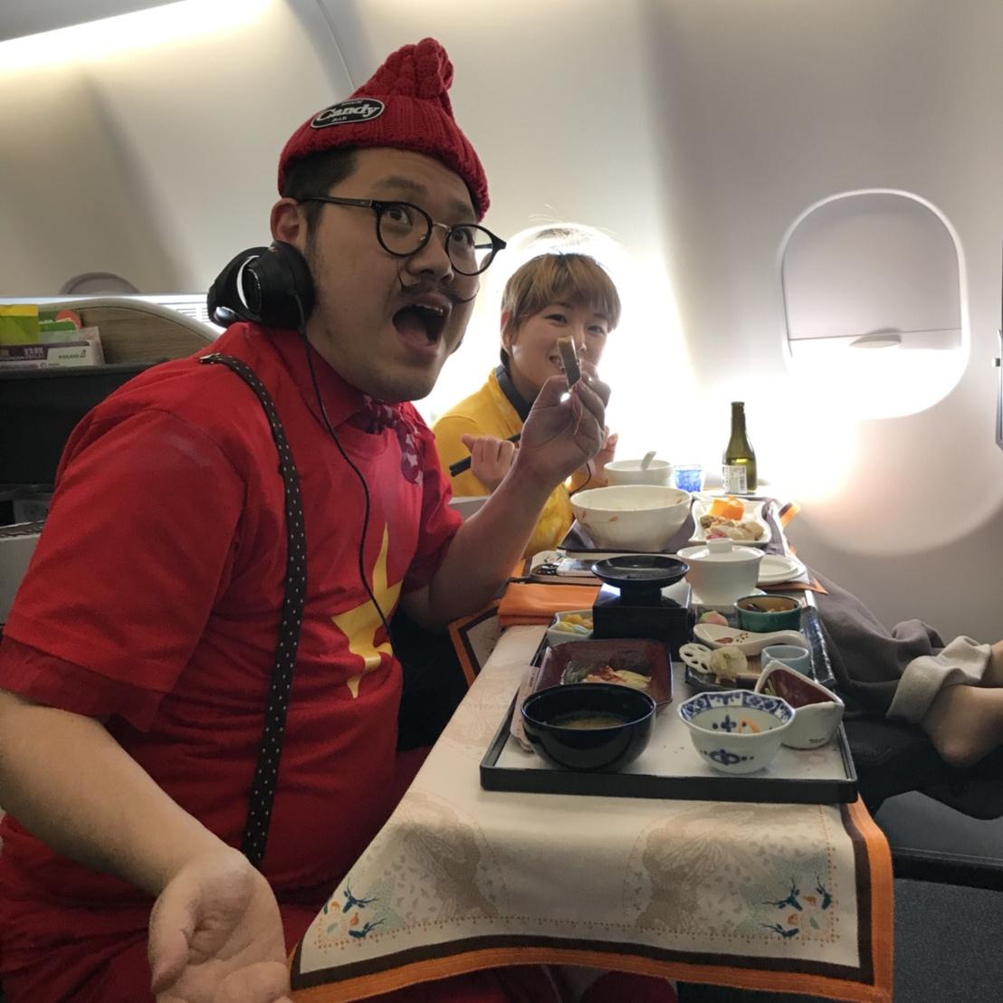 機内での食事